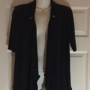 Black Short Sleeve Cardigan Sonoma Size Large